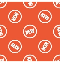 Orange NEW sign pattern vector
