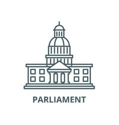 Parliament line icon linear concept vector