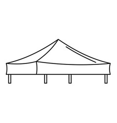 Piramide tent icon outline style vector