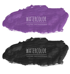 Purple and black watercolor stain background vector