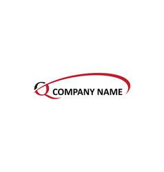Q letter swoosh logo vector
