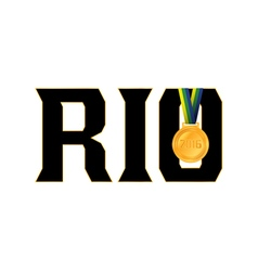 Rio Olympics 2016 Gold Medal Icon vector