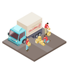 round the clock delivery service and movers vector image