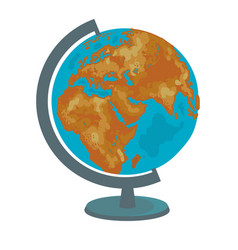 School globe model of earth geography icon hand vector