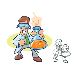 Scientist cartoon vector