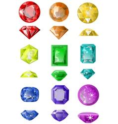 Set of precious stones vector