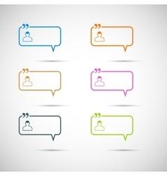 Set of six colorful speech bubbles vector image