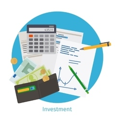 Smart investment concept vector image