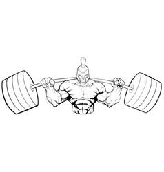 Spartan gym mascot line art vector