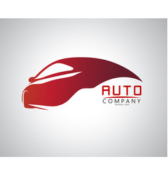 sports car logo company vector image