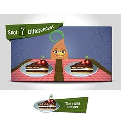Spot 7 differences vector