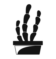 Suculent cactus pot icon simple style vector