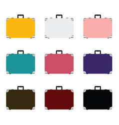 travel luggage or suitcase icon set vector image vector image