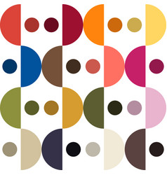 trendy color pattern by plain color arc and round vector image