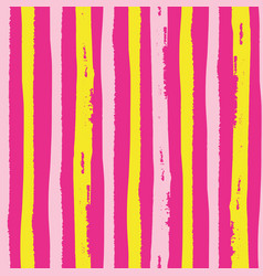 Tropical painterly light pink and yellow vertical vector