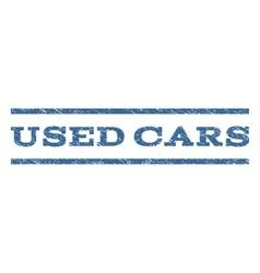 Used Cars Watermark Stamp vector image