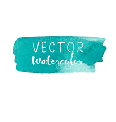 Watercolor brush on white background vector