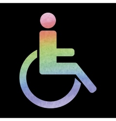 Watercolor disabled icon vector