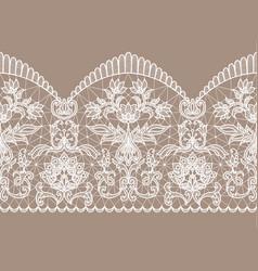 White lace ribbon vector