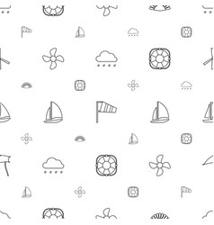 wind icons pattern seamless white background vector image