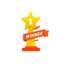 Winner icon award vector