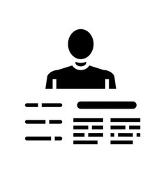 Worker skills glyph icon sign vector