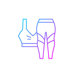 Workout clothes gradient linear icon vector