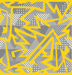 yellow geometric seamless pattern vector image