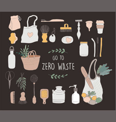zero waste environmental go green concept design vector image