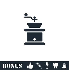 Coffee grinder icon flat vector image vector image