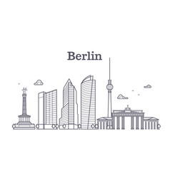 germany berlin line landscape city vector image