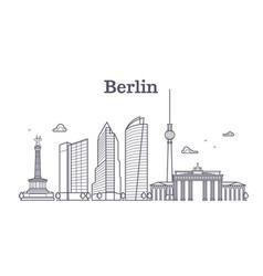 germany berlin line landscape city vector image