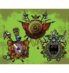heraldic coat vector image vector image