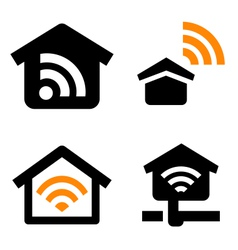 House wireless network vector image vector image