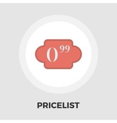 Pricelist icon flat vector image