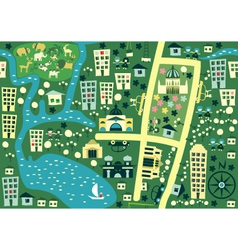 seamless map of melbourne australia vector image
