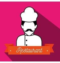 chef uniform restaurant icon vector image
