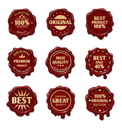 old wax stamps with finest quality advertising vector image