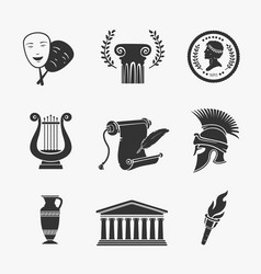 set symbol greece vector image