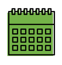 calendar business plan strategy icon vector image
