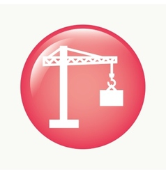 construction crane vector image