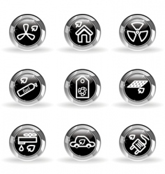 glossy icon set vector image