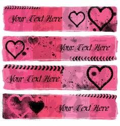 love banners vector image vector image