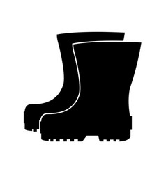 rubber boots icon vector image vector image