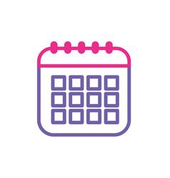 silhouette calendar data to organizer important vector image vector image