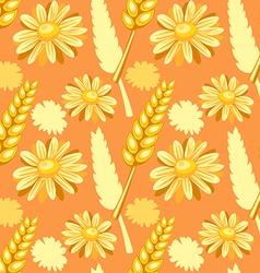 summer field seamless pattern vector image