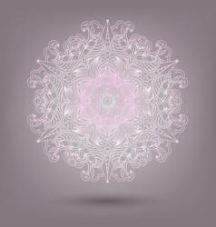 ornamental lace pattern circle handmade lace vector image