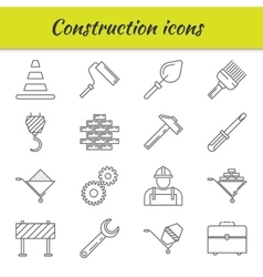Outline icons set Construction vector image