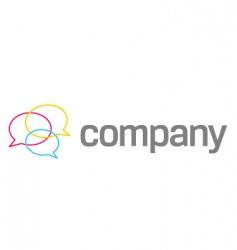 speach bubbles company logo vector image vector image