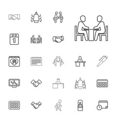 22 meeting icons vector
